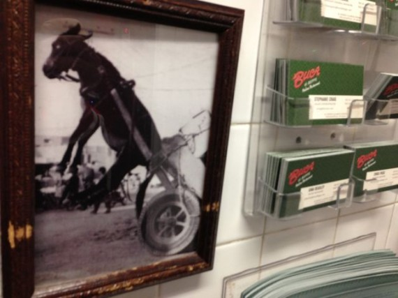 Restaurant wall photo of Donkey pulling cart