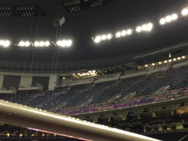 End zone seat at Super Dome January 2013