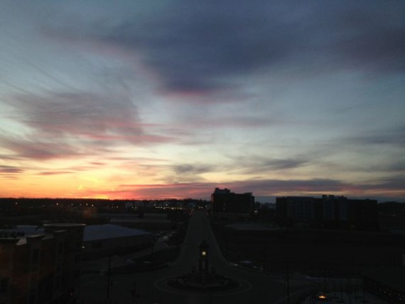 Sunset from Iowa Marriott