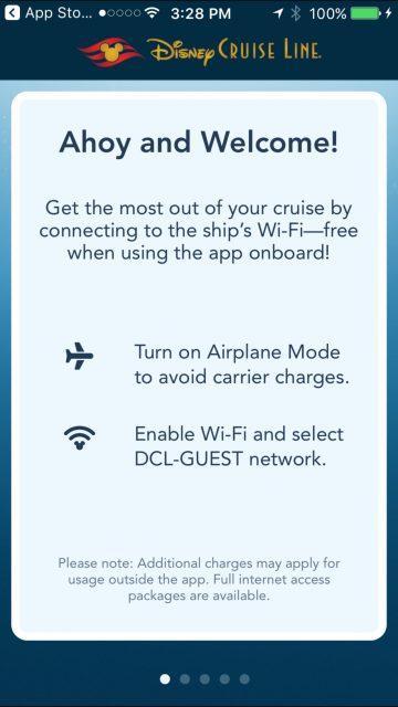 Disney Cruise Line app