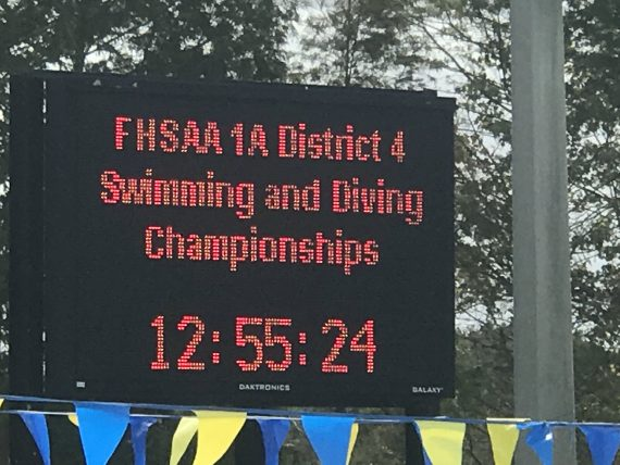 Florida High School swimming meet