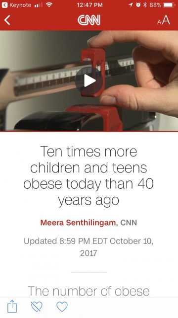 Teen obesity in America