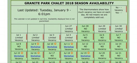 Granite Park Chalet availability