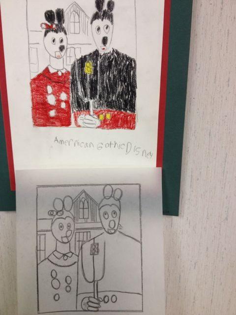 disney art by kids