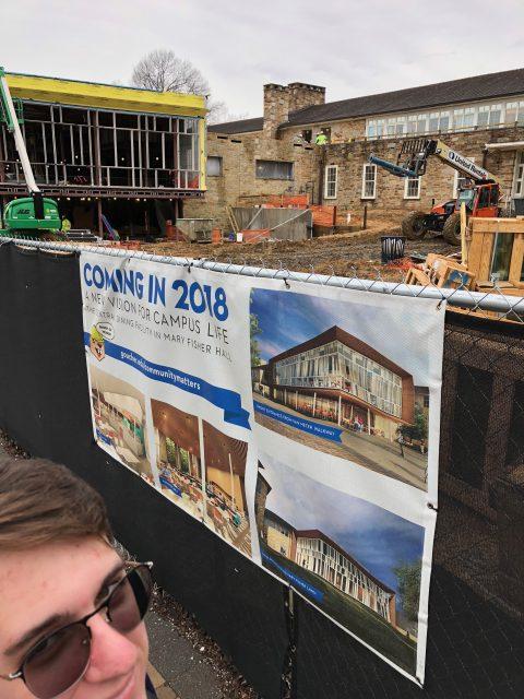 Goucher College construction spring 2018