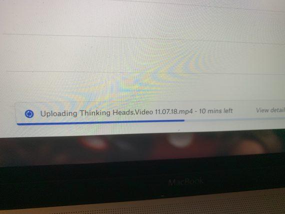 sending a video clip through dropbox