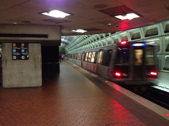 Washington DC metro train