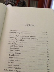 photo of AgePotential book table of contents