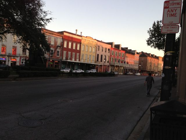 jogging in French Quarter