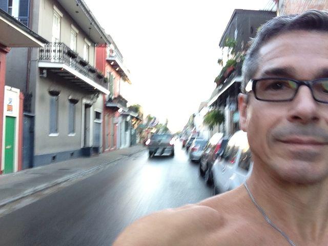jogging Bourbon Street