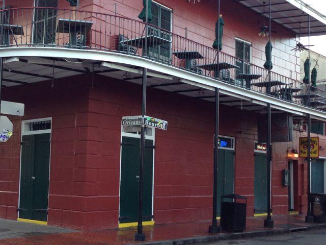 empty Bourbon Street