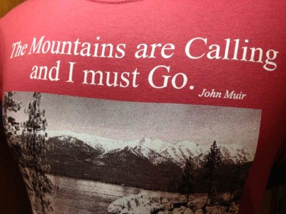 Lake Tahoe t-shirt outdoor adventures