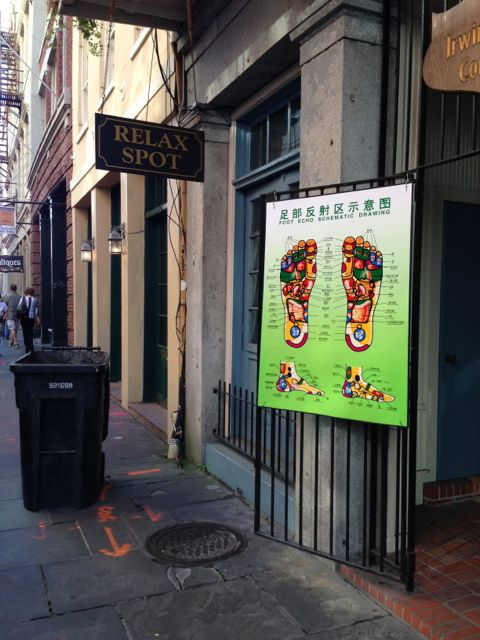 New Orleans foot massage business