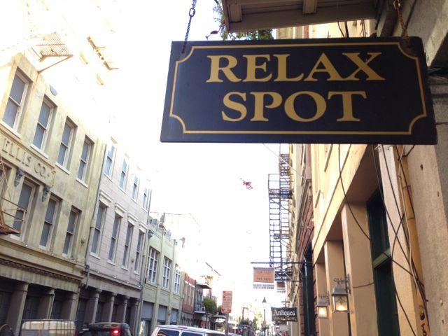 New Orleans Relax Spot foot massage business sign