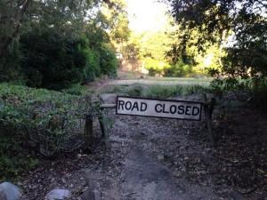 photo of a road closed sign at Kilimanjaro Safaries