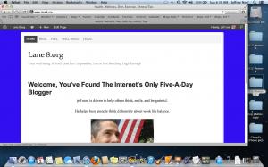 screen shot for jeff noel's health blog, https://Lane8.org