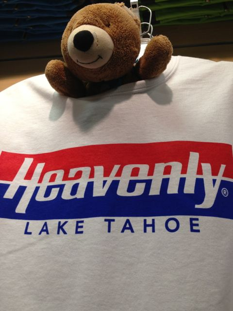 Jack the Teddy Bear in Lake Tahoe tee shirt shop