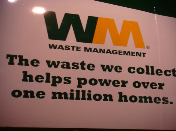 Waste Management company sign