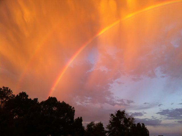 Florida sunrise double rainbow