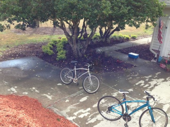 Two bikes in a Florida driveway