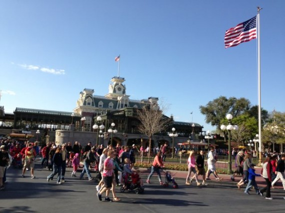 Magic Kingdom rope drop at 8:53am, March 2013