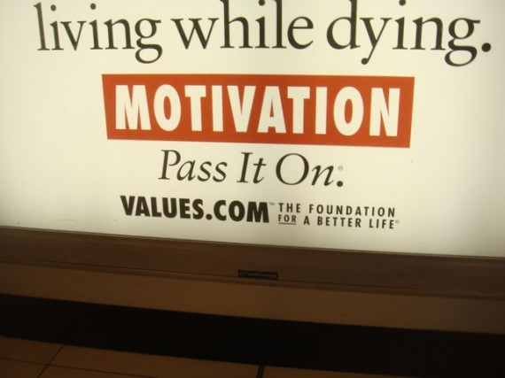 Airport wall sign about Motivation