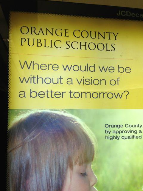 Orange County Public Schools airport poster