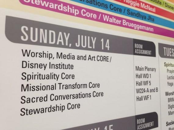 Orange County Convention Center program agenda board