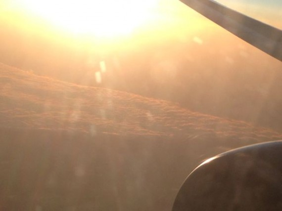 sun from high altitude jet