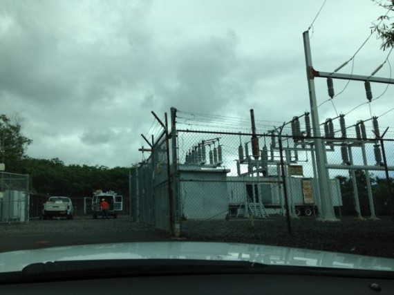 Electric company sub-station
