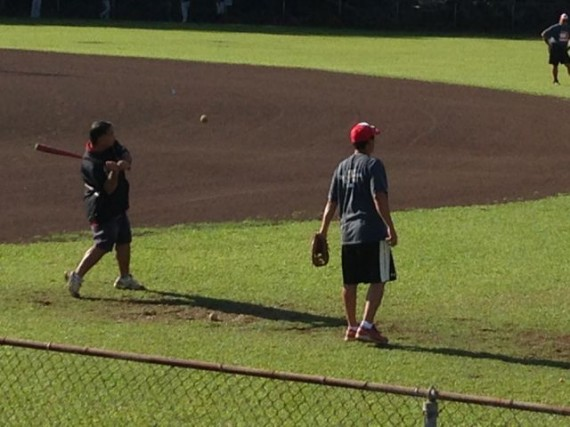 Hilo Hawaii Little League fielding practice