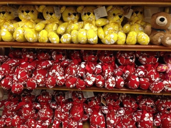 Aloha Teddy Bears on display