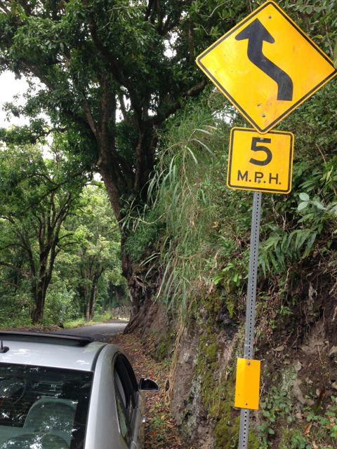 Hana Road road sign Hawaii