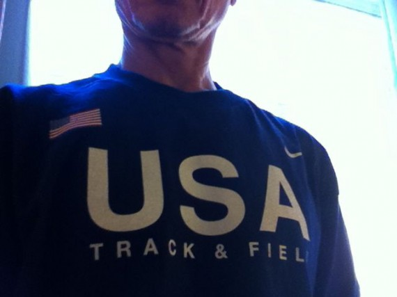 jeff noel from Lane 8 in USA Track Team shirt