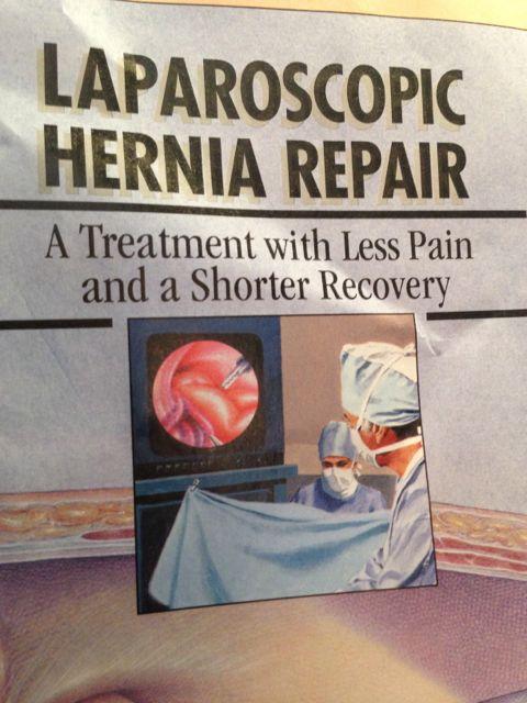 Full anesthesia for Laparoscopic Hernia repair