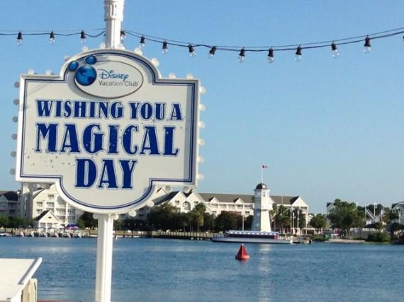 A magical Disney sign