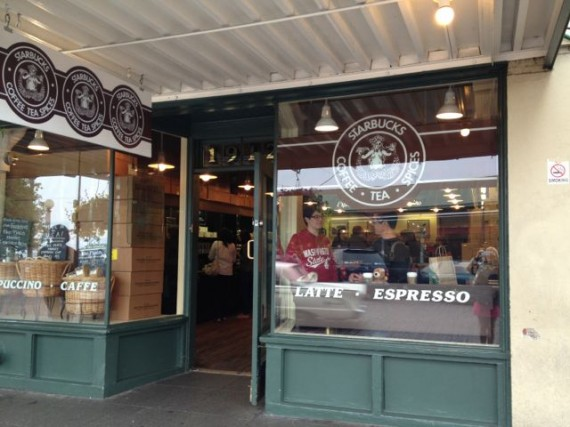 First Starbucks Store next to Pike Place Market Seattle