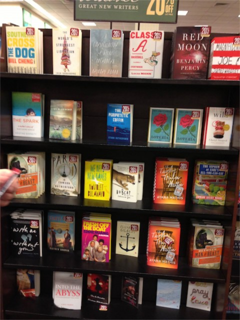 New Writer's book display at Barnes and Noble