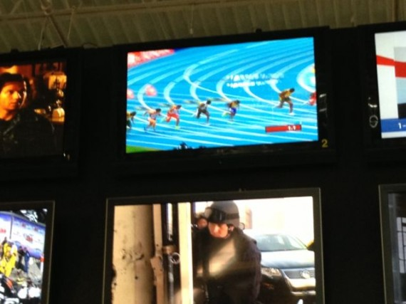 Poor photo quality but you get the picture - track and field