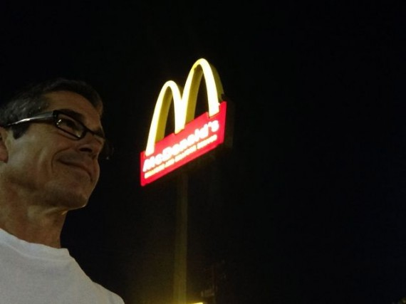 jeff noel at McDonalds pre-dawn