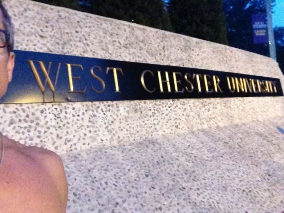 West Chester University sign