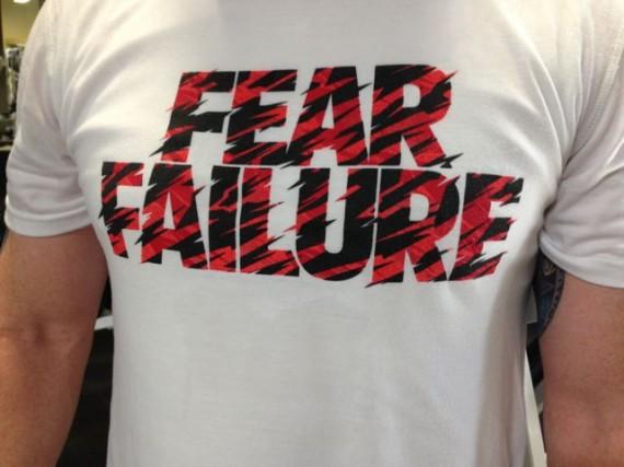 Fear failure tee shirt