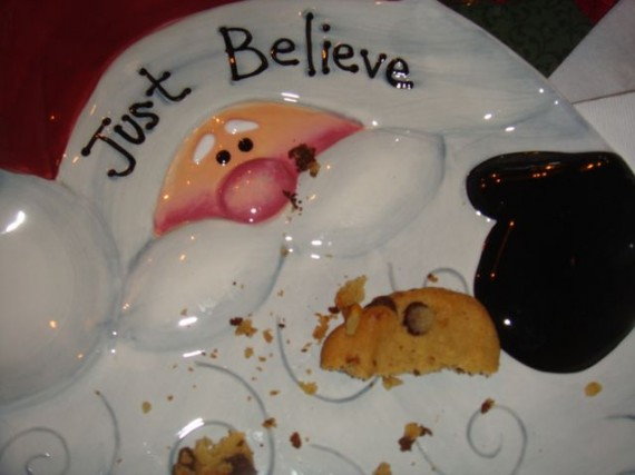 Santa Claus plate with cookies