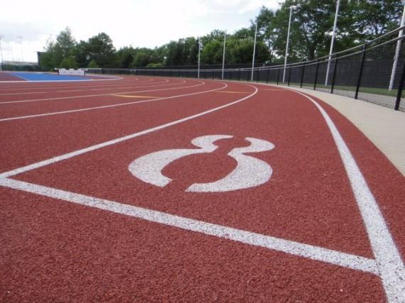 Photo of lane 8 at University track