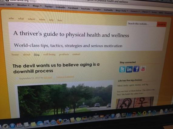 jeff noel's wellness blog Lane 8.org