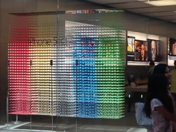 Apple Store iPhone 5C window display