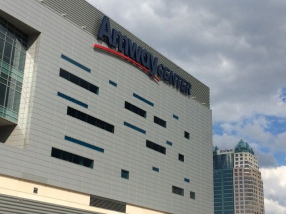 Amway Center buildng with SunTrust building in background