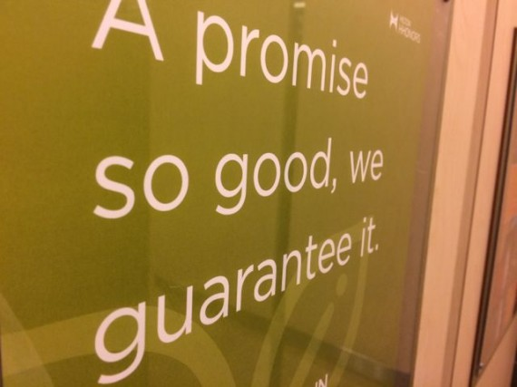 promises and guarantees from Hilton
