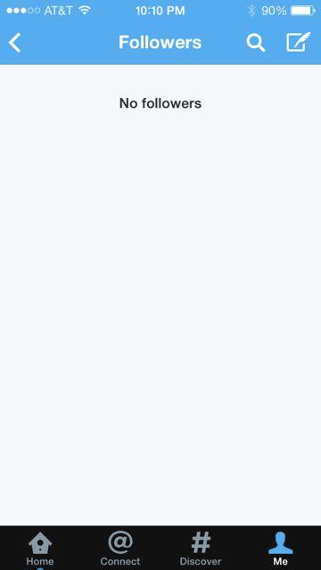 Twitter followers screen shot