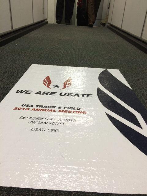 USATF floor poster